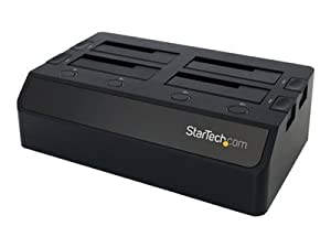 Startech.Com Usb 3.0 to 4-bay Sata 6gbps Hard Drive Docking Station W/ Uasp & Dual Fans - 2.5/3.5in Ssd / Hdd Dock - Storage Enclosure