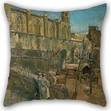 Beautifulseason The Oil Painting Francesc Gimeno - Plaza Del Rey Pillow Cases Of ,16 X 16 Inches / 40 By 40 Cm Decoration,gift For Home Theater,kids Room,living Room,monther,bar (twice Sides)
