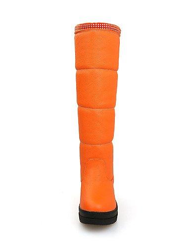 Zapatos Black Creepers 5 Redonda Casual Plataforma Vestido Rojo De Nieve 5 Uk3 Orange 5 Eu38 Semicuero Botas us5 Beige Cn38 Eu36 negro us7 Mujer Xzz 5 Uk5 Cn35 Punta dwvZnq8d