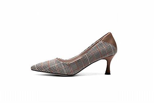 35 Bajos con Zapatos UN Altos Puntiagudo Salvajes DIDIDD Único Fino Zapato Tacones de Tacones 1xwvqqOZI