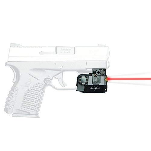 Viridian C5L-R Universal Red Laser Sight and Tac Light for Sub-Compact Handgun Pistols, ECR Instant On Technology