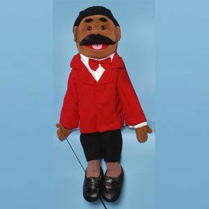 Ethnic Dad In Red Suit Full Body Puppet NEW Sunny Toys GS4302B 28 In