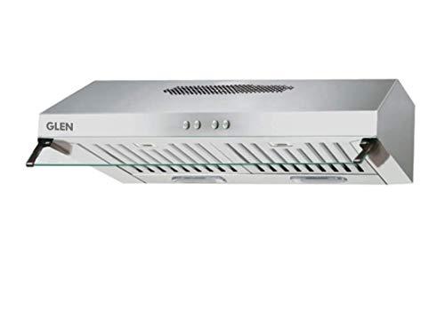 Glen Straight Line Kitchen Chimney 6003 Stainless Steel Baffle Filters 60cm