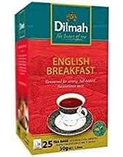 Dilmah English Breakfast Tea - Pure Ceylon Black Tea Box Sri Lanka Dilmah Tea Bags - 50 Tea Bags 100g (3.53 oz)