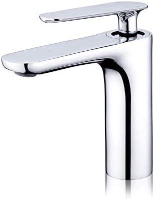 Zxyan 蛇口 立体水栓 バスルームのシンクは、スロット付き浴室の洗面台のシンクホットコールドタップミキサー流域の真鍮シンクミキサータップ非震とう浴室蛇口銅ボディ単穴流域の蛇口をタップ トイレ/キッチン用