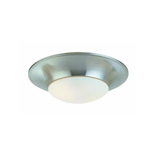 Sonneman 3751 Single Light Flush Mount Ceiling Fixture From the Trumpet Collecti, Polished Nickel - Sonneman Trumpet