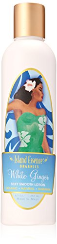 Island Essence Lotion, 8.5 Ounce, White Ginger (Hawaiian Ginger Body Lotion)