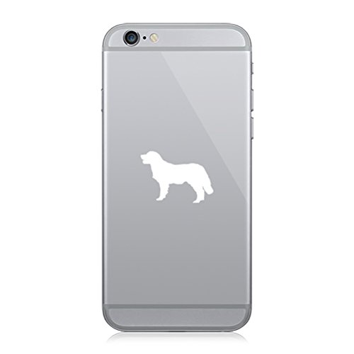 RDW Pair of Golden Retriever Cell Phone Stickers Mobile Canine - White