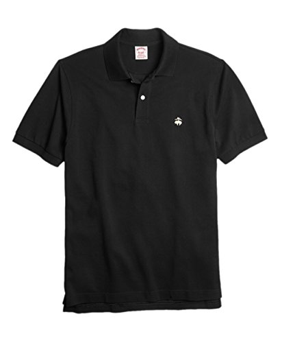 Brooks Brothers Men's Original Fit Performance Pique Polo Shirt Black ()