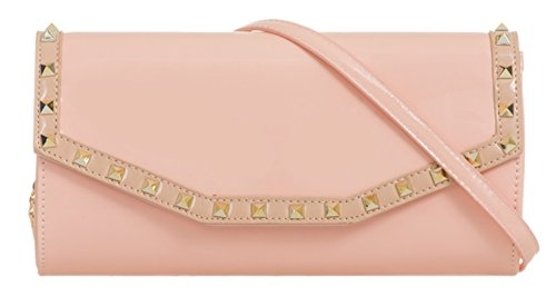 Clutch Bag Pink Girly HandBags Clutch Trim Trim Girly Studs Bag HandBags Studs H1xvwHqz