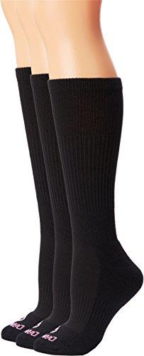 Dan Post Women's Dan Post Cowgirl Certified Over the Calf Socks 3 pack Black 9