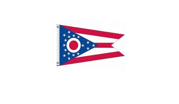 Ohio Polyester Flag w// Brass Grommets 2 x 3ft