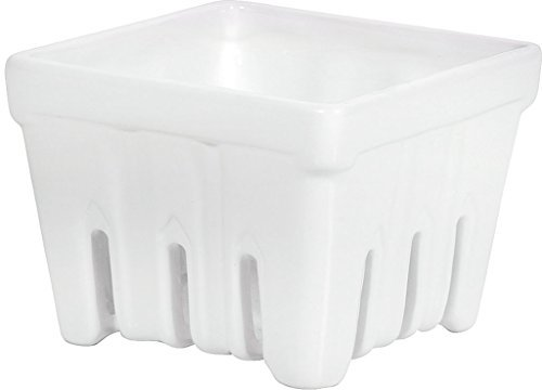 Home Essentials Bright White 29oz Berry Basket (Famous Baskets)
