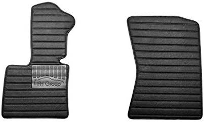 FH Group Custom-fit Heavy-Duty Faux Leather Car Floor Mats Liners Anti-Slip Backing for 2008-2014 BMW X6 (FM12034-FRONT-BLACK-AVC)