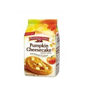 Pepperidge Farm, Limited Edition, Soft Dessert Cookies, Pumpkin Cheesecake, 8.6oz Bag (Pack of 4)