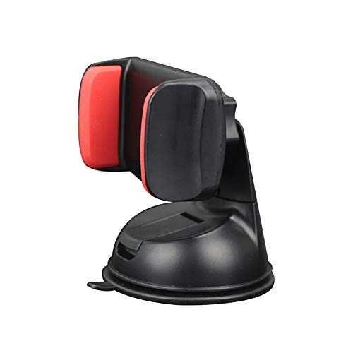 blackbirdlee Cell Phone Stand, Car 360 Degrees Rotatable Suction Cup Air Vent Mount StandMobile Phone Holder, Phone Holder Cradle Dock for Home Office Car Use Black Red