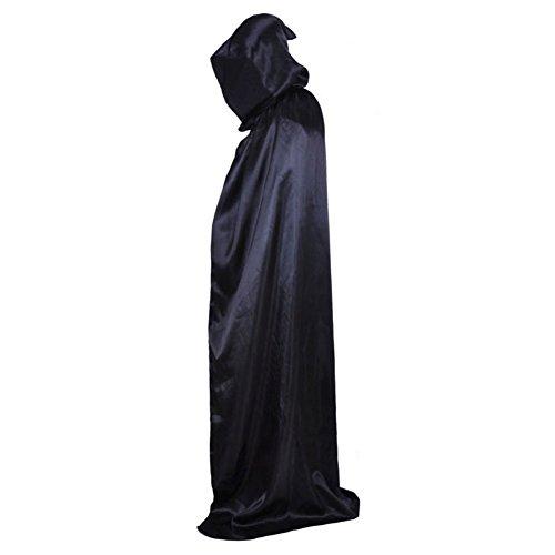Noir Manteau Pour Cape ESHOO Halloween capuche Fancy Party Costume Unisexe Adulte TvSvqwpZ