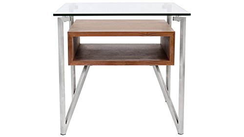 LumiSource Modern Walnut Malmo End Table ()