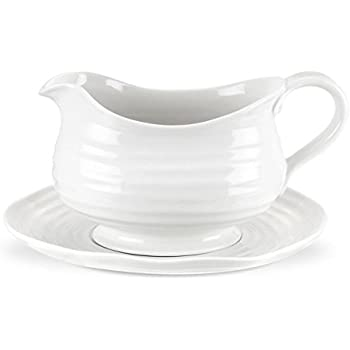 Portmeirion Sophie Conran White Gravy Boat and Stand  sc 1 st  Amazon.com & Amazon.com | Portmeirion Sophie Conran White Gravy Boat and Stand ...