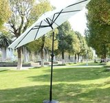 Outsunny Outdoor Patio Umbrella with Tilt and Solar Powered LED Lights, 9-Feet, Cream Review