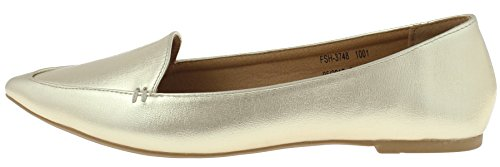 Capelli New York Ladies Flats Gold Pointy WcZ6vaD