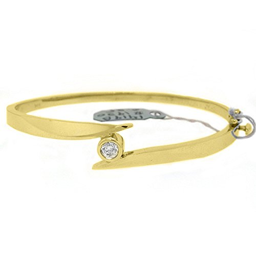 Solitaire Yellow Bracelet (14k Yellow Gold .35 Carat Round Solitaire Diamond Bangle Bracelet)