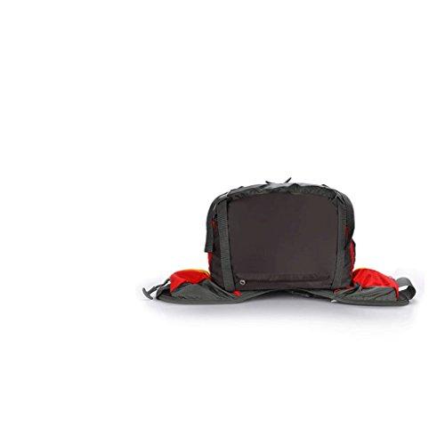 bolso del alpinismo profesional de hombro del bolso de los hombres y mujeres de excursión al aire libre de la bolsa de camping mochila 45L gran capacidad con protección contra la lluvia verde