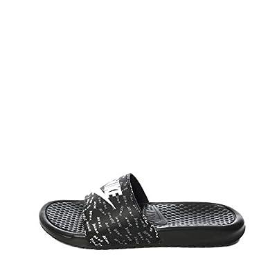 Nike 618919-017: Benassi Womens Black White-Black Sandal (9 B(M) US Women)