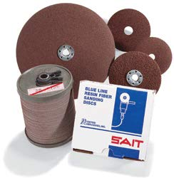 Coated Finishing Disc - 9-1/8 in Disc Dia, Aluminum Oxide, 120 Grit (10 Units)