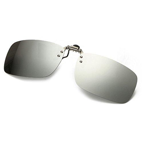 clip conduite Huicai de soleil sur Mercure de unisexe extérieure lunettes des polarisé pêche pour Blanc les lunettes myopie 5wnx6qBwH