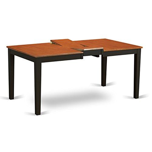East West Nicoli 6 Piece Dining Set: East West Furniture NICO6-BLK-C 6 Piece Black Dining Table
