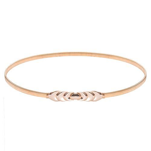 - Womens Skinny Elastic Waist Belt Gold Dress Belt