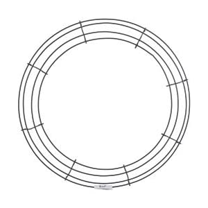 "Bulk Buy: Panacea Wire Wreath Frame 16"" Green 36005 (10-Pack) 105"