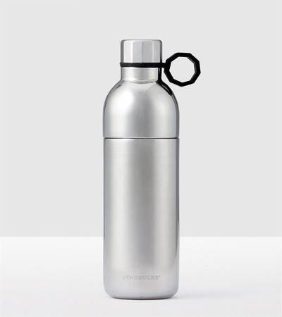 Starbucks Shimmering Silver Two-Piece Stainless Steel Water Bottle - 20 Oz 2 Piece Bottle