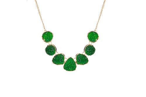 Clockwork Baby Drusy Stone Statement Necklace Bib Druzy Chunky Necklace for Women - Chunky Stone Necklace