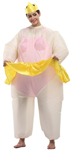 Perfect Corset Inflatable Adult Sumo Wrestler Wrestling Fat Suit Halloween Fancy Costume,Queen (Mens Inflatable Sumo Costume)