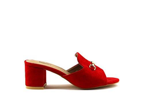 Modelisa - Sandalias Destanolada Mujer Rojo