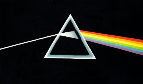 Sunshine Joy Pink Floyd Mini Tapestry The Dark Side of The Moon Black Classic Wall Art 30x45 Inches