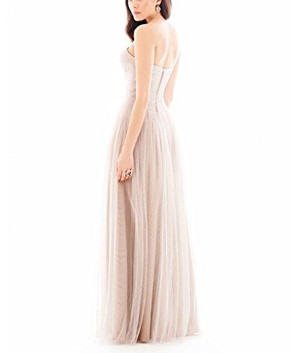 GEORGE BRIDE Schlicht und elegant lange Schatzausschnitt Abendkleid Foto Color zXqEEq
