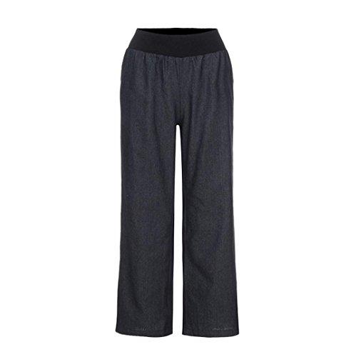 Mi Jambes Loose Confortable Femmes Rtro Pantalon Noir Denim Fluides Fluid SANFASHION Chic Vintage Elgant Pants Taille Large xIdFEwAxq7