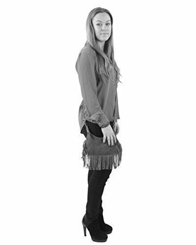 histoireDaccessoires - Bolso con Bandolera de Cuero de Mujer - SA144521I-OE-Dario BeigeBeige