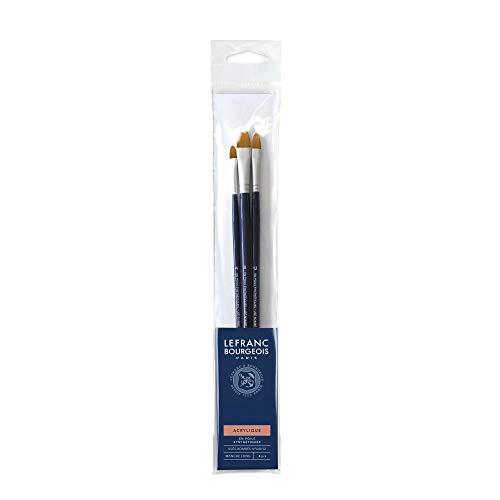 (LB Filbert Brush Set No. 4/8/12 Long Handle Set of 3)