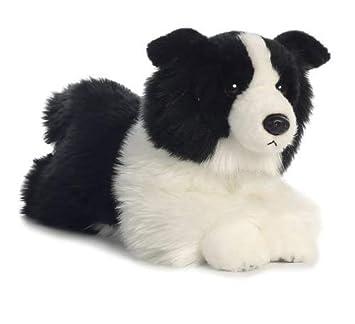 Amazon Com 11 Border Collie Black White Dog Plush Stuffed Animal
