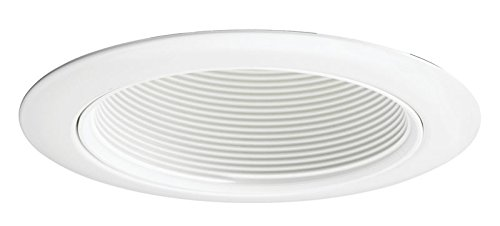 Juno Lighting Contractor Select 14W-WH 4-Inch Recessed Baffle Trim White Baffle with White Trim
