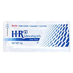 "HR Pharma ""One Shot"" Sterile Lubricating Jelly, 5 gram per unit, Box of 144"