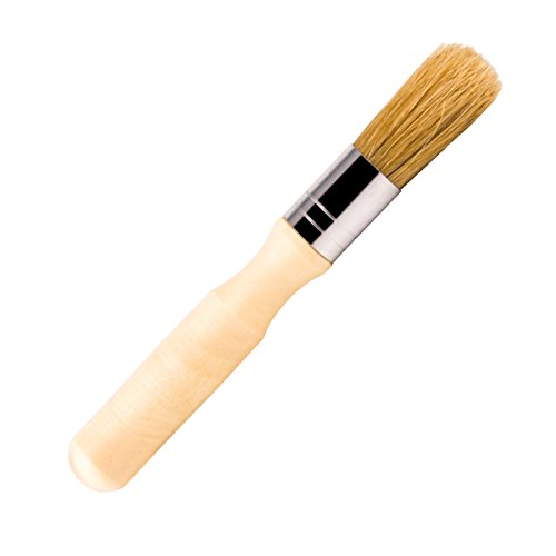 - Glue Brush for Bookbinding, VENCINK Natural Bristle Wood Handle Round Wax Paint Brush Small Brush for Little Project