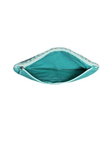 Bag Pom Diwaah Body Handmade Bag Mulicolored Clutch Top Sling Diwaah Purse amp; Black Green Zip Pom Cross Evergreen qttwfO