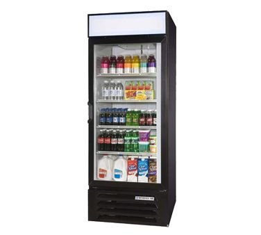 "Beverage-Air LumaVue 30"" Black Refrigerated Merchandiser"