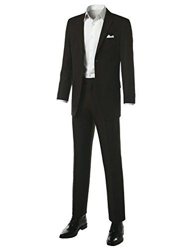 MONDAYSUIT Men's Modern Fit Striped 2-Piece Suit Blazer & Trousers