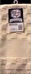 "Bulk Buy: Charles Craft Home Dec Check Towel 15""X25"" Ecru TT6624-2724 (2-Pack)"